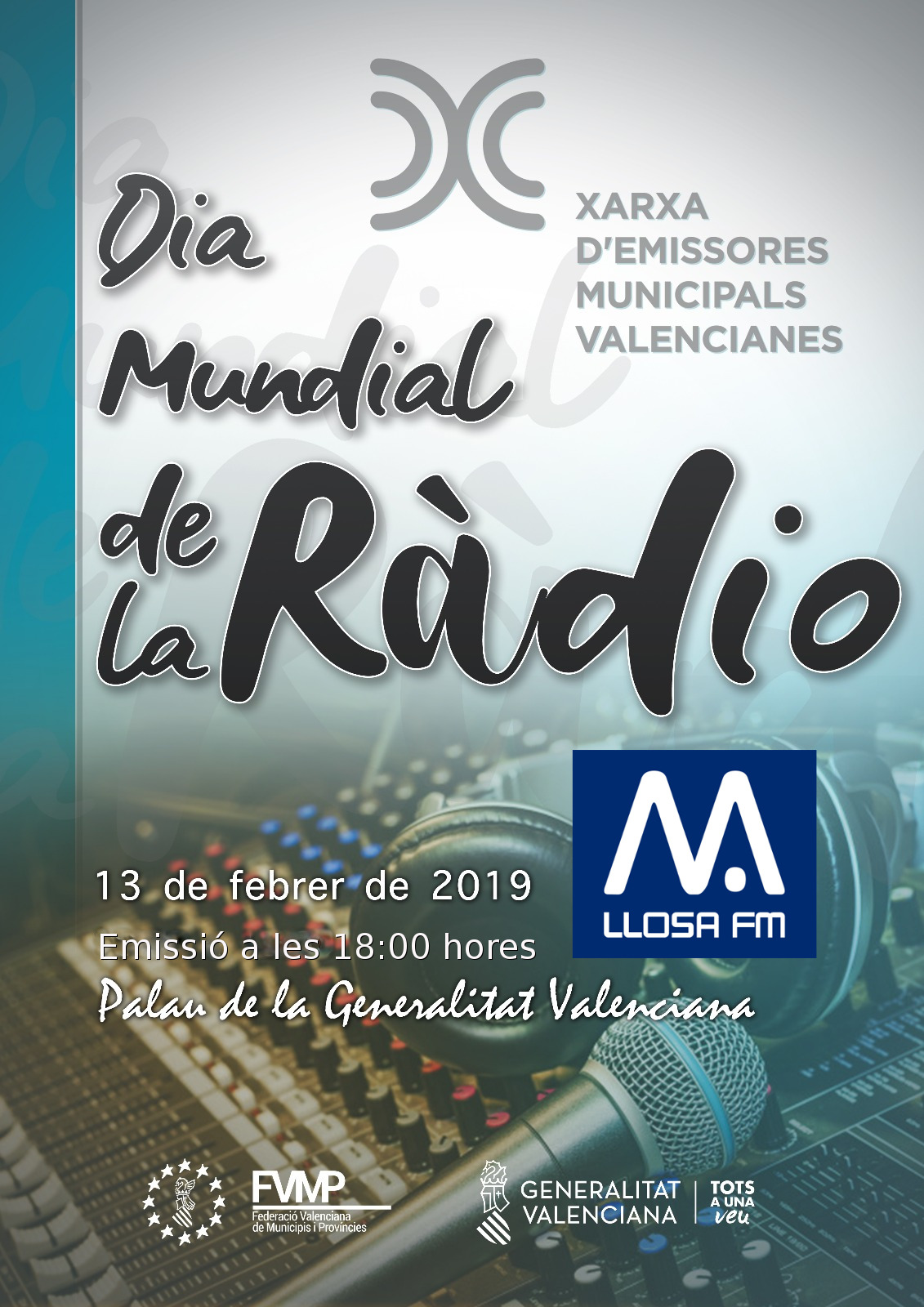 Llosa FM celebra el Dia Mundial de la Ràdio junt amb la Xarxa d'Emissores Municipals Valencianes